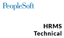 PeopleSoft HRMS Technical Online Training
